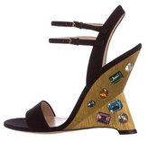 Gucci Engel Embellished Sandals w/ Tags