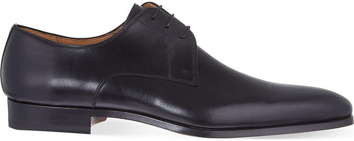 Magnanni Plain leather Derby shoes
