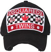 DSQUARED2 Twins Patch Canvas Baseball Cap