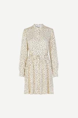 Samsoe & Samsoe Organic Black Dot Monique Shirt Dress - XS . | viscose | cream - Cream