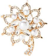 AK Anne Klein Gold-Tone Flower Brooch
