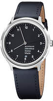 Mondaine Unisex Helvetica Leather Strap Watch