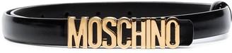 Moschino Logo Skinny Belt