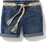 Old Navy Tie-Belt Denim Midi Shorts for Girls