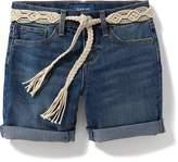 Old Navy Tie-Belt Mid-Length Denim Shorts for Girls