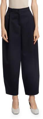 Nina Ricci Wool Wide-Leg Cropped Trousers