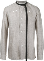 Raf Simons striped shirt - men - Linen/Flax - 48