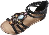 Oncefirst Women's Retro Summer Sandals Bohemia Gladiator Sandals Flats Thongs