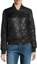 French Connection Quilted Bomber Jacket, Black