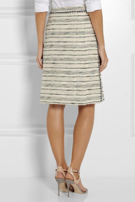 Tory Burch Nicole pleated tweed skirt