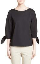 Lafayette 148 New York Women's Elaina Stretch Cotton Blouse
