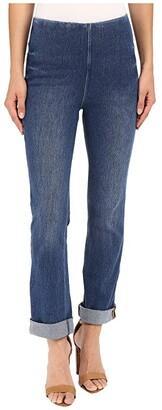 Lysse Rolled-Cuff Boyfriend Denim (Mid Wash) Women's Jeans