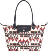 Longchamp Le Pliage Small Ikat-Print Shoulder Tote Bag