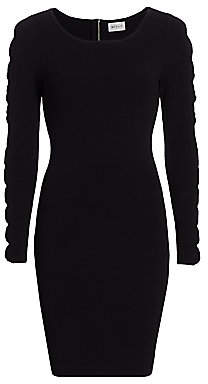 Milly Women's Scalloped Cut-Out Knit Bodycon Dress