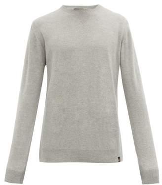 Belstaff Crew-neck Wool And Cashmere-blend Sweater - Mens - Grey