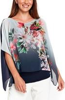 Wallis Women's Ombre Floral Overlay Top