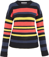 Jason Wu Striped Crochet Knit Sweater