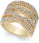INC International Concepts Gold-Tone Multi-Layer Pavé Ring, Only at Macy's