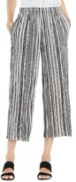 Vince Camuto Women's Stripe Pleat Knit Crop Pants