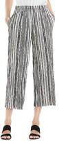 Vince Camuto Women's Stripe Pleat Knit Crop Pants
