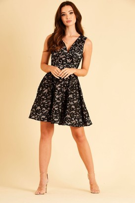 Skirt & Stiletto Stretch lace and sequin Skater dress
