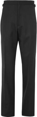 Maximilian Mogg Black Grosgrain-Trimmed Wool Tuxedo Trousers