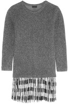J.Crew Fringed Knitted Sweater Dress - Anthracite