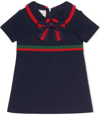 Gucci Kids Ribbon-Trimmed Dress