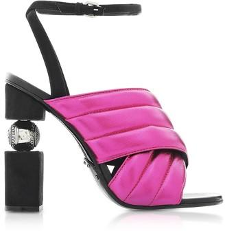 Balmain Jana Fuchsia Laminated High Heel Sandals