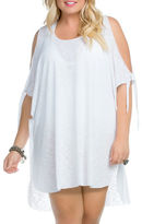 Becca Etc Plus Cold-Shoulder Cover-Up Tunic