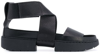 Trippen Crossover Strap Sandals