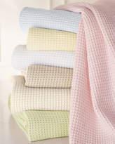 "Sferra King Waffleweave Blanket, 120"" x 100"""
