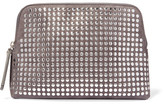 Christopher Kane Studded Suede Clutch - Anthracite