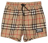 Burberry Kameron Check Swim Shorts (Infant/Toddler) (Archive Beige IP Check) Boy's Swimwear
