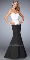 La Femme Julia Satin Prom Dress