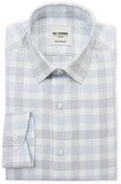 Ben Sherman Blue & White Plaid Slim Fit Dress Shirt