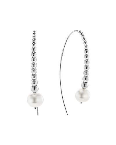 Lagos Caviar & Pearl Wire Earrings