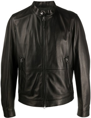 HUGO BOSS Zipped Leather Jacket