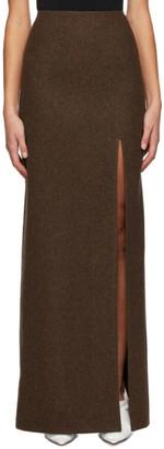 Miu Miu Brown Wool Skirt