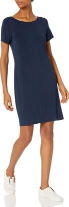 Daily Ritual Women's Jersey Standard-Fit Ballet-Back T-Shirt Dress