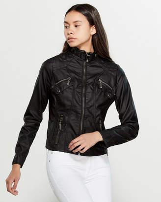 Joujou Jou Jou Vegan Leather Moto Jacket