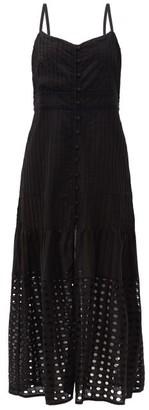 Solid & Striped The Tilda Pintuck-pleated Cotton-poplin Dress - Black