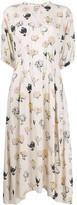 Marni Floral Printed Flared Dress