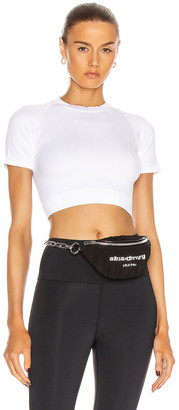 ALALA Barre Seamless Tee in White | FWRD