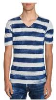 Roberto Collina Men's Blue Linen T-shirt.
