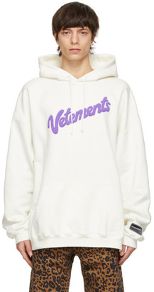 Vetements White Sweet Logo Hoodie