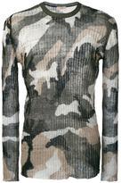 Valentino camuflage jumper - men - Linen/Flax - L