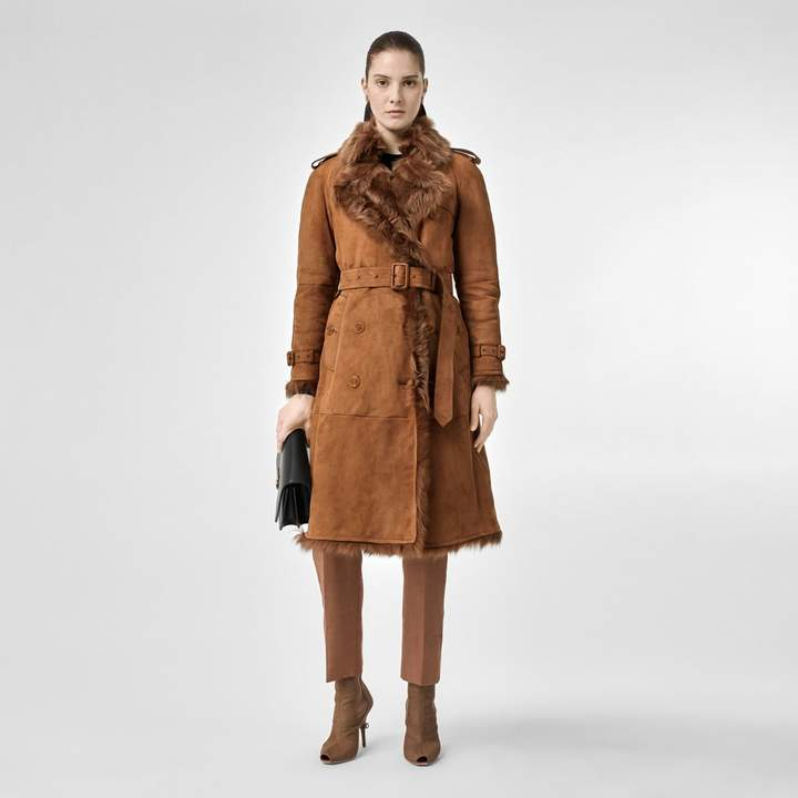 Burberry Shearling Trench Coat