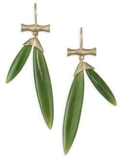 Annette Ferdinandsen Tropical Jade Bamboo Drop Earrings
