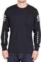 Crooks & Castles Men's Knit Encrypted LS T Shirt Black 3XL